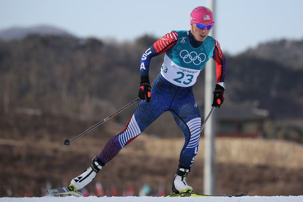 Cross-Country Skiing - Pyeongchang 2018 Winter Olympics - Women's 10 km Free - Alpensia Cross-Country Skiing Centre - Pyeongchang, South Korea - February 15, 2018 - Kikkan Randall of the U.S. competes. REUTERS/Carlos Barria