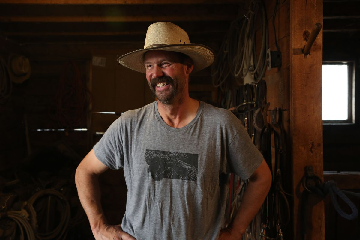 Dean Peterson is a fourth-generation rancher in Montana's Big Hole Valley, where grizzlies are being seen for the first time in a century. Washington Post photo by Whitney Shefte