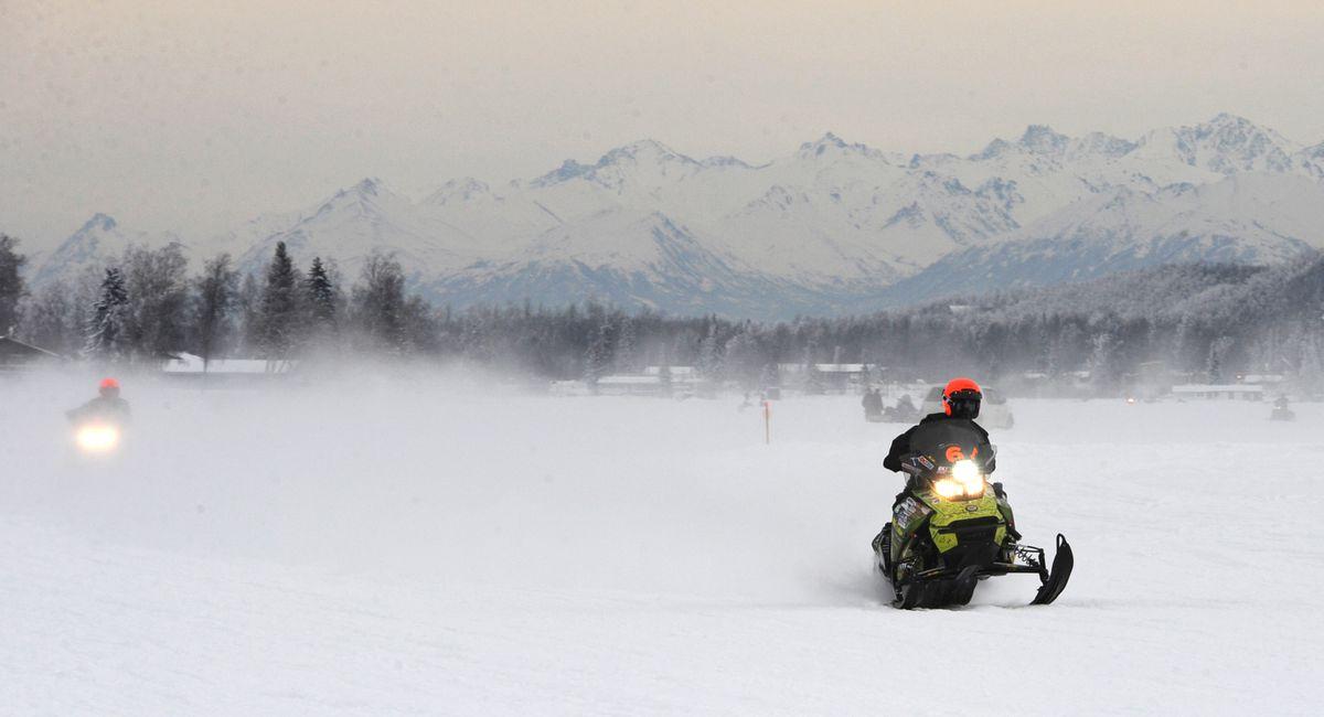 Twenty-seven teams hit the trail at Big Lake for the 2018 Iron Dog. (Bill Roth / ADN)