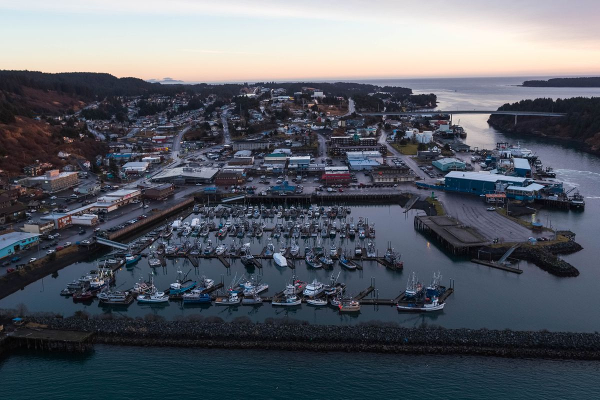 Boats docked at Kodiak's St. Paul Harbor on Thursday morning, Jan. 24, 2019. (Loren Holmes / ADN)