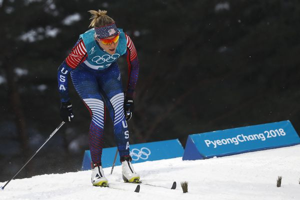 Cross-Country Skiing – Pyeongchang 2018 Winter Olympics – Women's Sprint Classic Qualifications – Alpensia Cross-Country Skiing Centre – Pyeongchang, South Korea – February 13, 2018 - Sadie Bjornsen of the U.S. competes. REUTERS/Kai Pfaffenbach