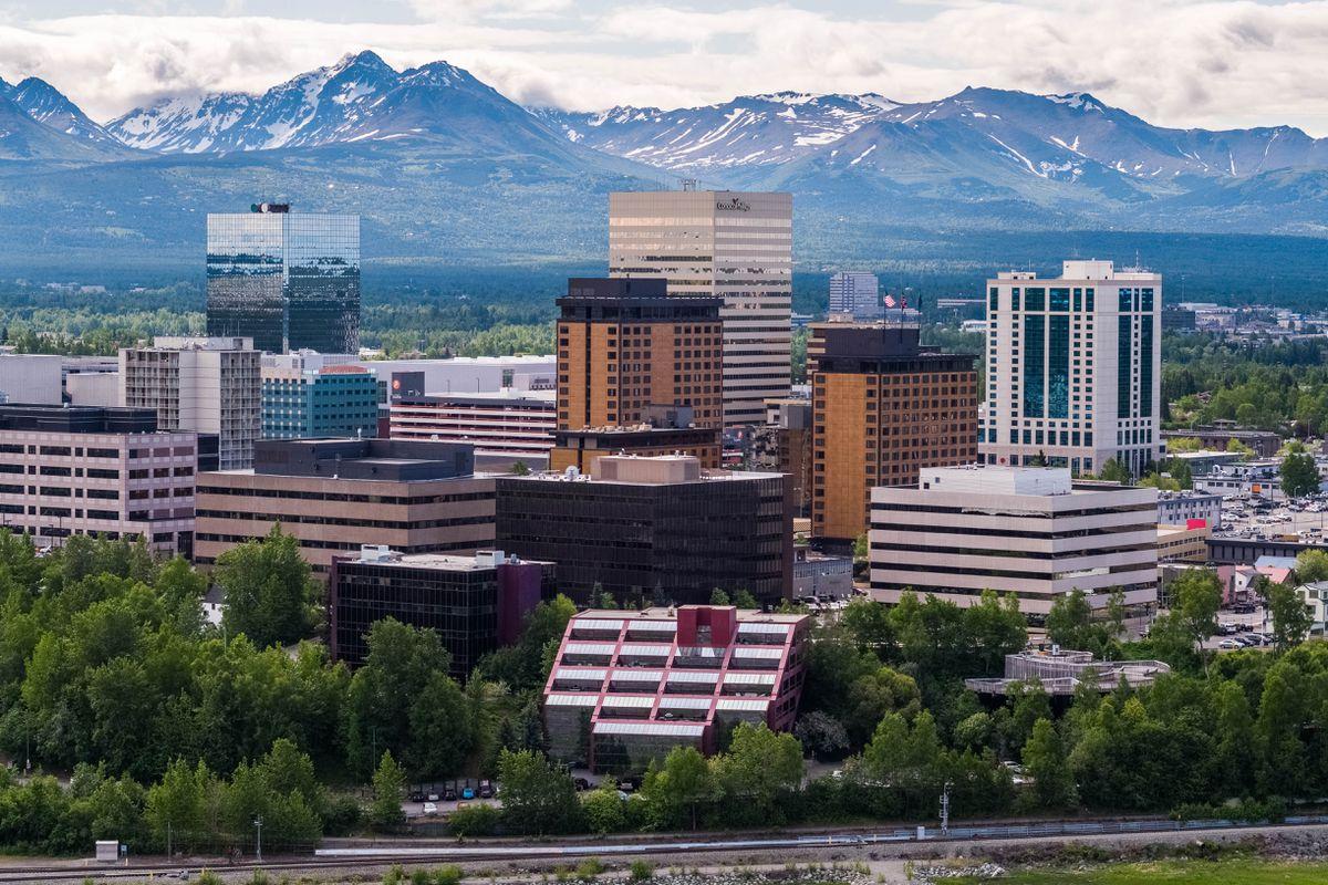 Downtown Anchorage, June 12, 2018. (Loren Holmes / ADN)