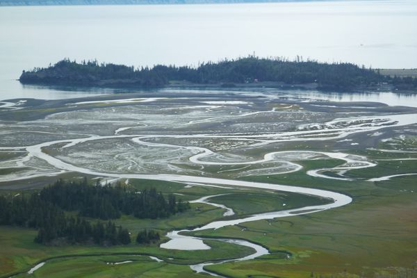 China Poot Bay is about 4 miles southeast of Homer across Kachemak Bay. (Michael McBride)