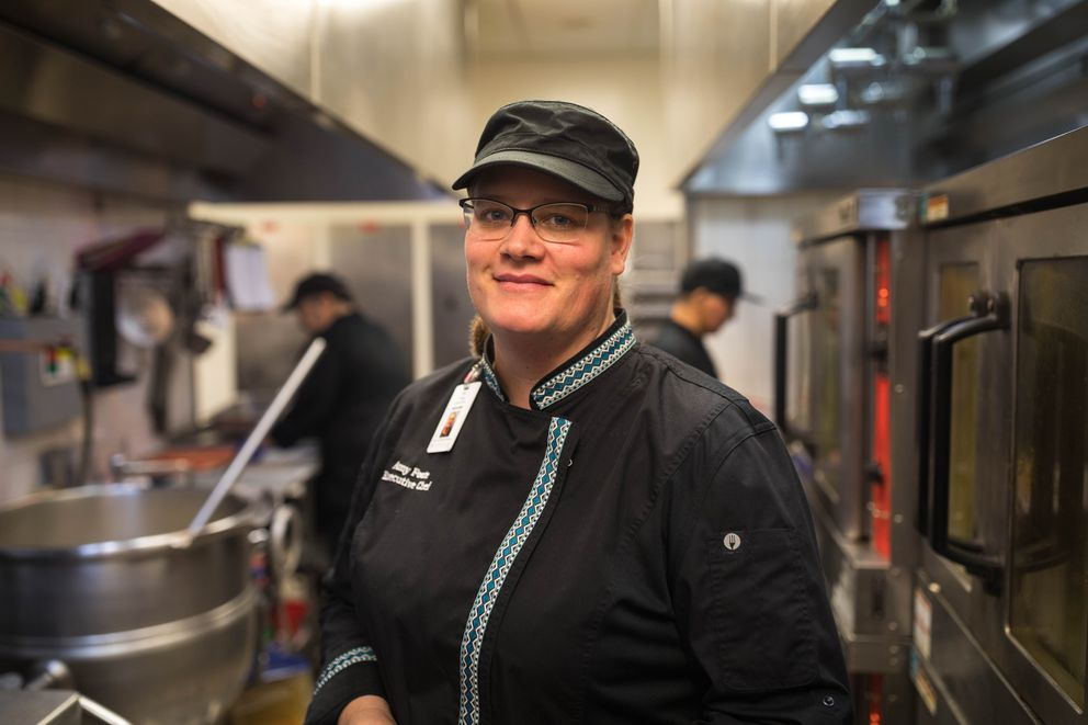 Amy Foote, the hospital's executive chef, on Friday. (Loren Holmes / ADN)