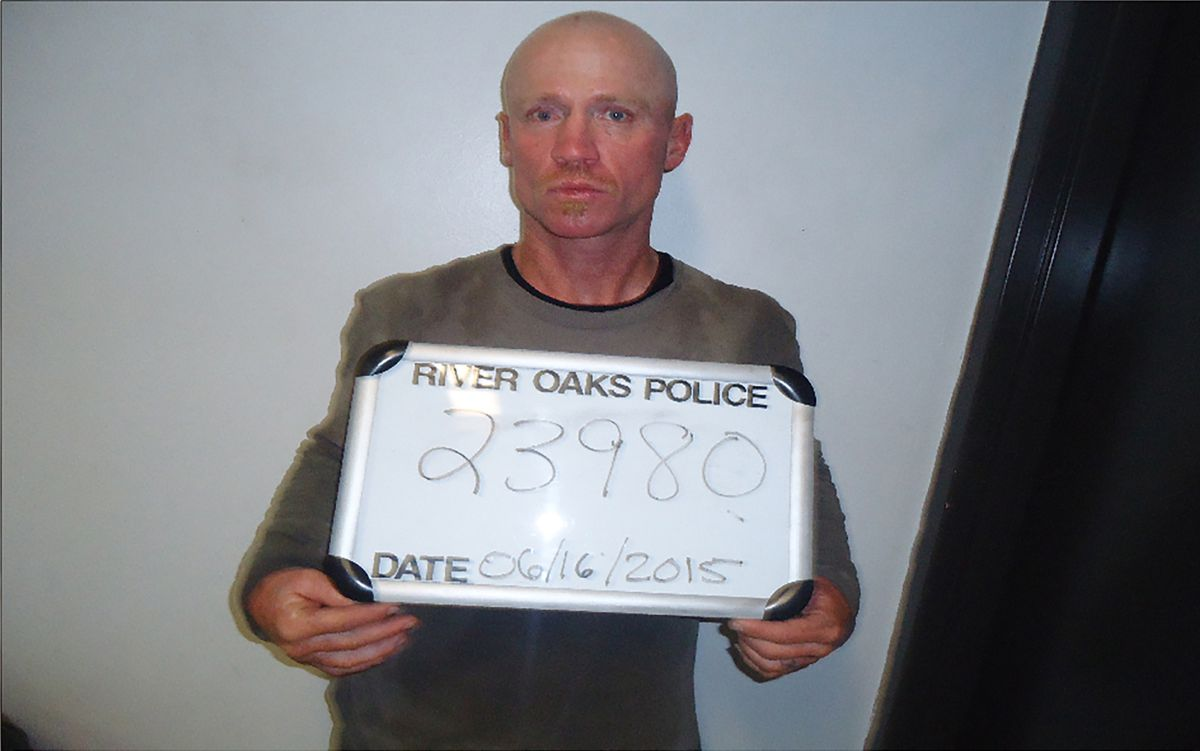 This June 16, 2015, photo provided by the River Oaks Police Department, in Texas, shows Keith Thomas Kinnunen. Authorities say that Kinnunen is the man who carried out an attack Sunday, Dec. 29, 2019, at West Freeway Church of Christ in White Settlement, Texas. (River Oaks Police Department via AP)