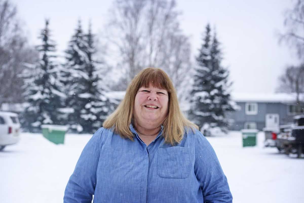 Barb Dexter is a secondary teacher specialist with the Child in Transition program, photographed in Anchorage on Tuesday, Dec. 15, 2020. She also helps coordinate The Back on Track program which is a credit recovery program for students who are at high risk of not graduating. (Emily Mesner / ADN)