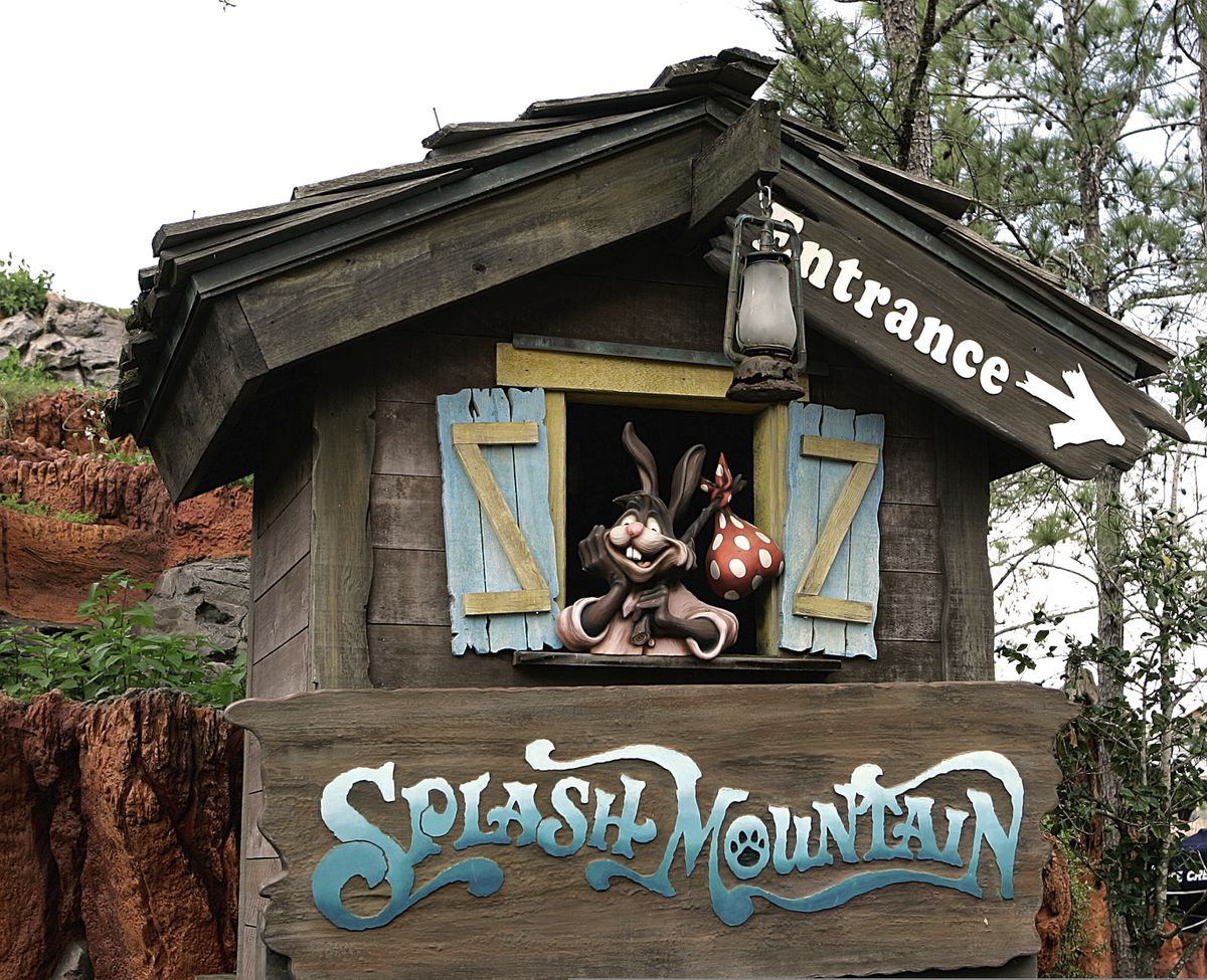 """The popular """"Splash Mountain"""" attractions at Disneyland and Disney World are based on the controversial 1946 film """"Song of the South"""" — a movie long accused of peddling racist tropes. (AP Photo/John Raoux, File)"""