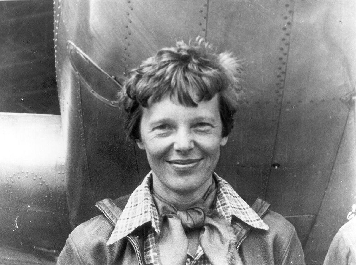 Amelia Earhart standing under nose of her Lockheed Model 10-E Electra. Gelatin silver print, 1937. National Portrait Gallery, Smithsonian Institution (via Creative Commons)