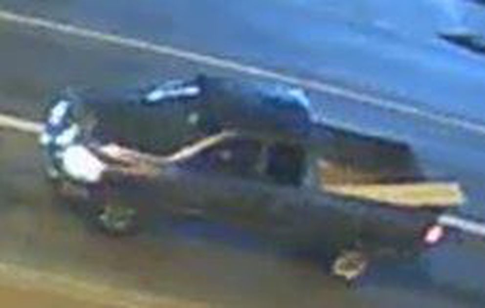 Anchorage police are seeking a silver Chevrolet pickup in connection with a hit-and-run on a pedestrian Saturday, Sept. 7, 2019. (APD photo)