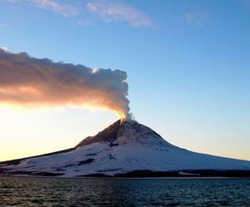 Augustine volcano in Cook Inlet