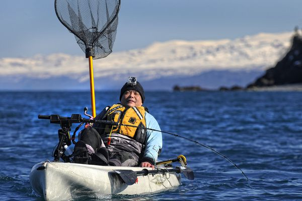 Avid kayak fisherman Rudy Tsukada of Anchorage took part in the 21st annual Homer Winter King Tournament this March.