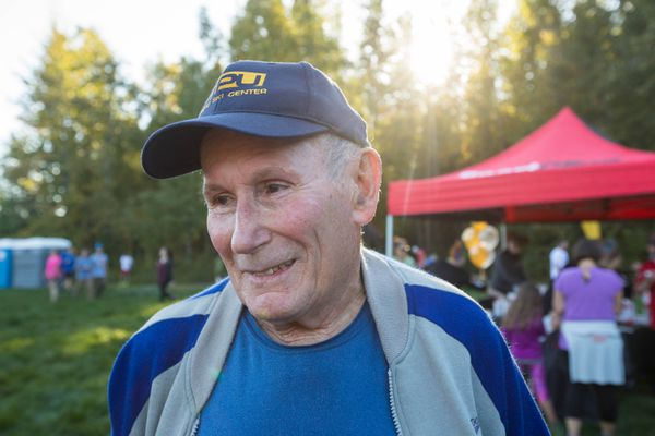 Race founder Jim Mahaffey was on hand to kick off the 50th anniversary of the Bonny Sosa Tuesday Night Race Series. (Loren Holmes / ADN)