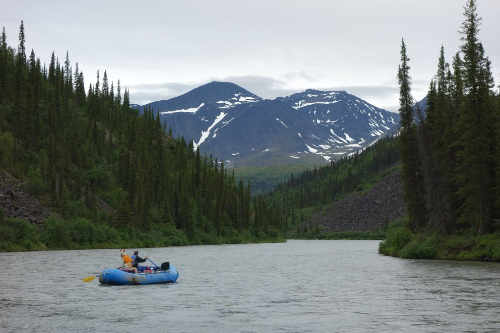 The Nenana River originates near here, north of the Alaska Range, and flows through the mountains south of the range. (Photo by Ned Rozell)