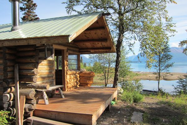 The National Park Service opened the Lake Clark public use cabin in July 2017. The cabin was built by Allen Woodward in the mid-1970s. (NPS)