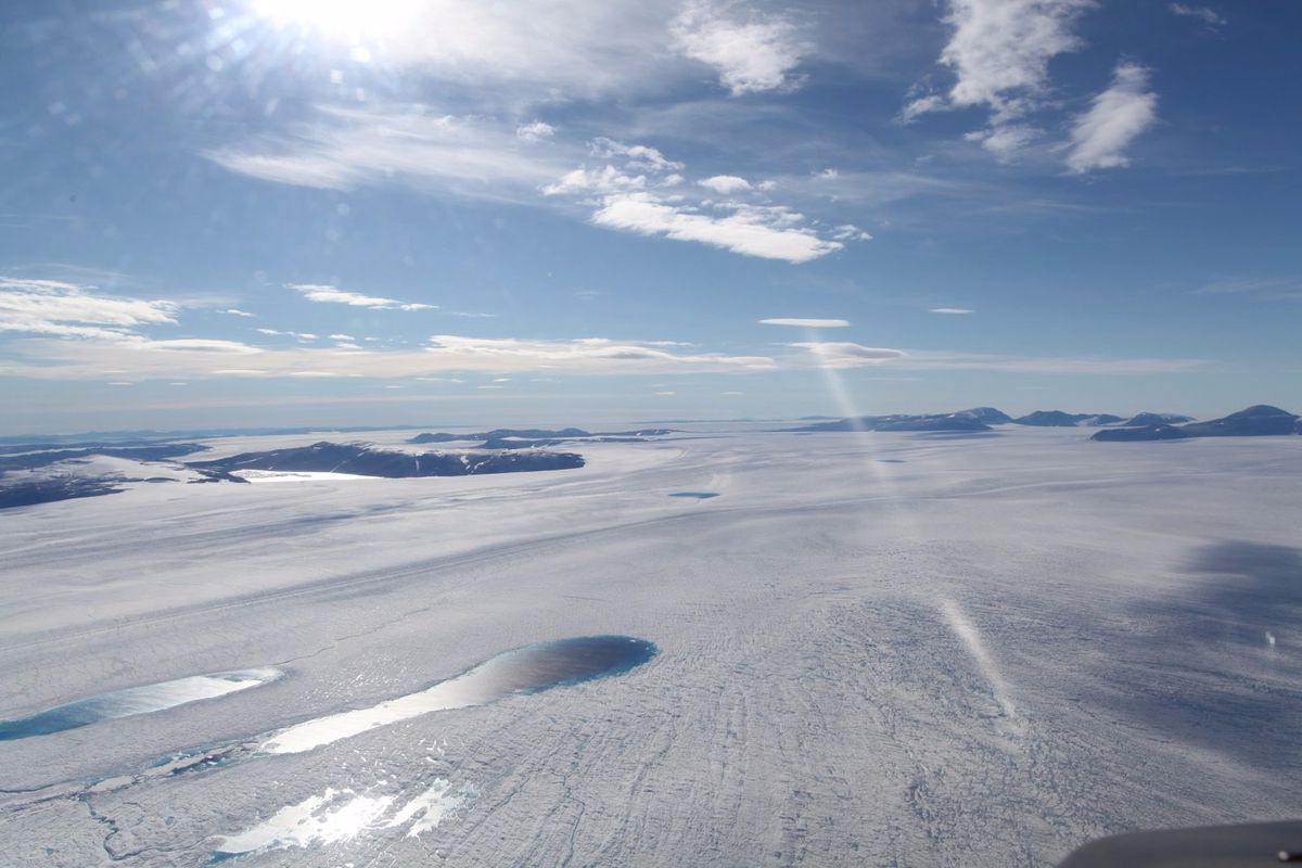 A photo of Zachariae Isbrae in northeast Greenland. (Courtesy Anders A. Bjork / The Ohio State University)