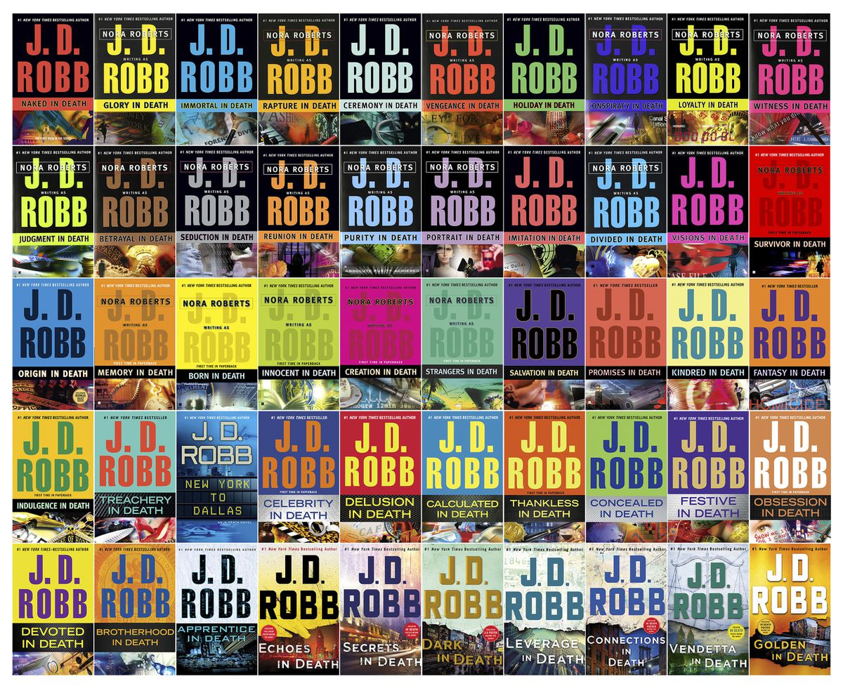 This combination of book cover images shows 50 volumes of the