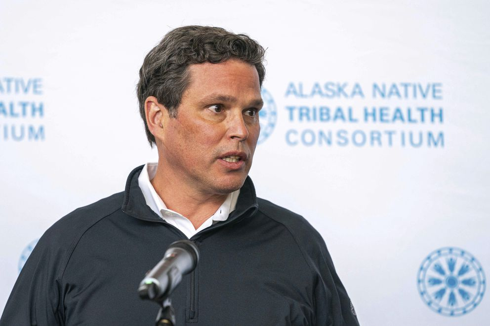 Andy Teuber at the Alaska Native Tribal Health Consortium, Aug. 12, 2020, in Anchorage, Alaska. (Loren Holmes/Anchorage Daily News)