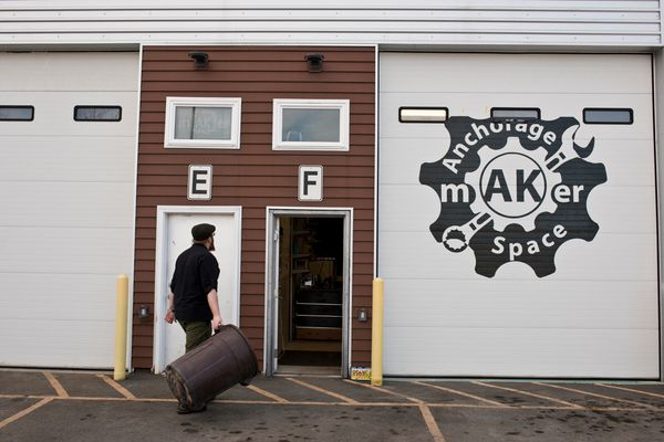 Anchorage MakerSpace is on 33rd Avenue in Spenard. Photographed on April 6, 2017. (Marc Lester / Alaska Dispatch News)