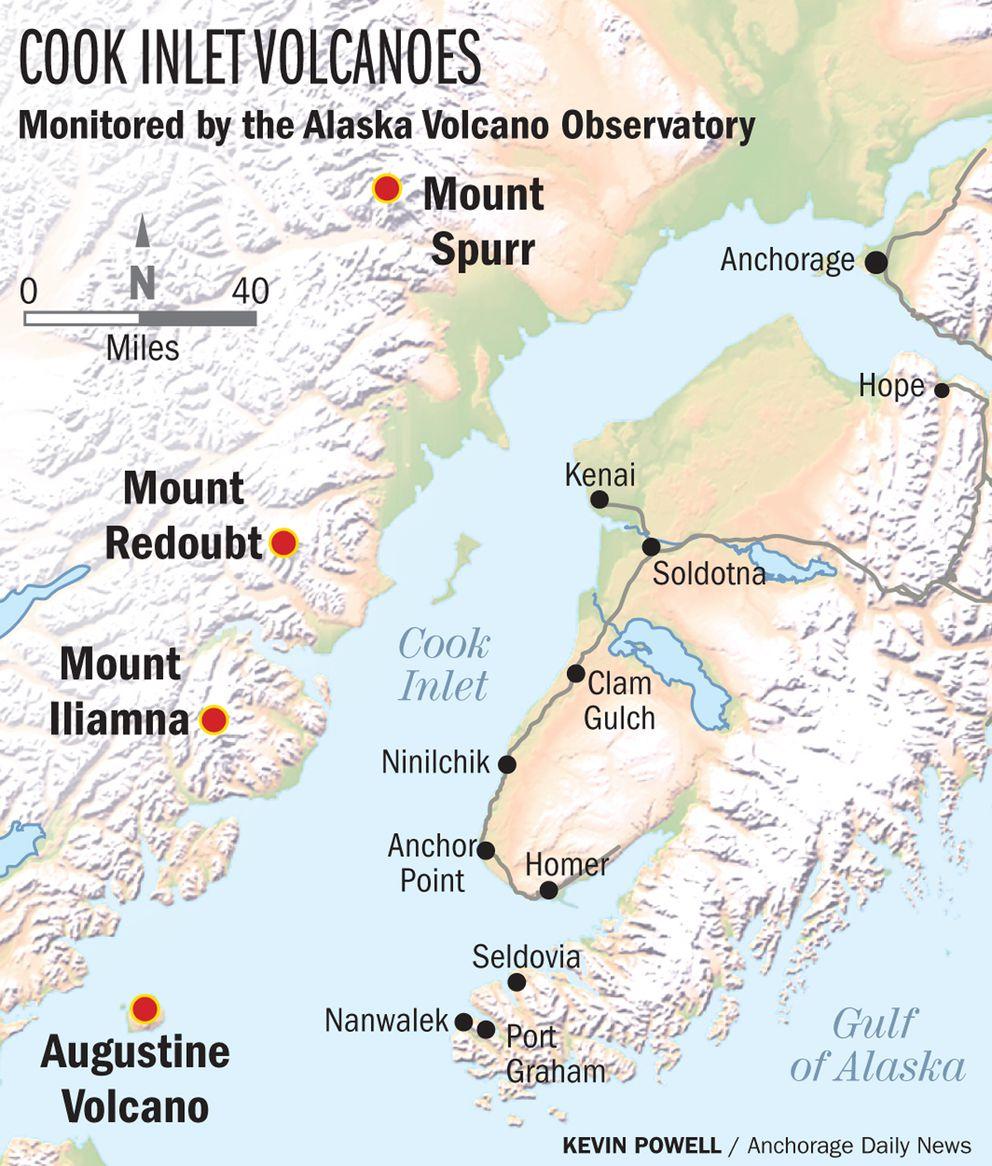 Alaska Map Volcano.Alaska Is No Stranger To Volcanoes But What Would Happen In A Big