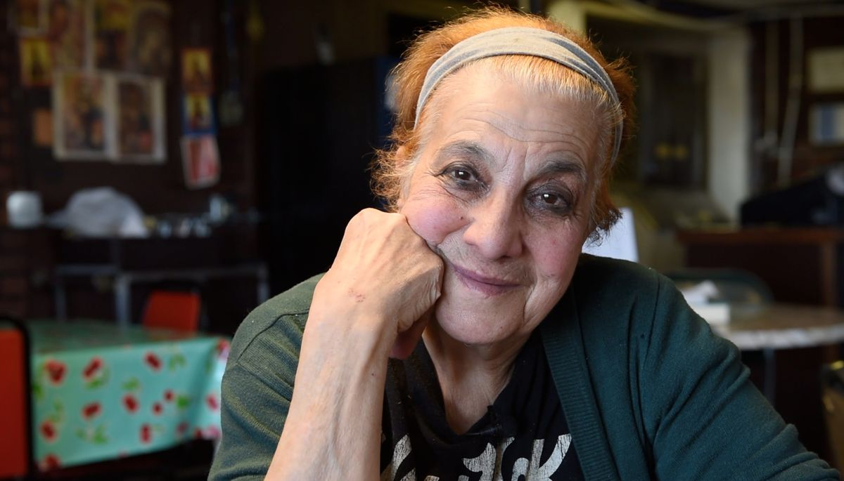 Maro Kargas was the beloved owner and chef at Dimitri's Restaurant in Bethel. This portrait was taken in October 2016 during an interview in which Maro reflected on nearly 40 years of feeding her Yukon-Kuskokwim Delta patrons Greek food. Maro passed away in Cyprus, surrounded by family, earlier this summer. (Katie Basile / KYUK Public Media)
