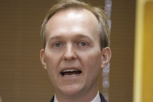 Utah Rep. Ben McAdams speaks during a news conference announcing he will vote to impeach President Donald Trump Monday, Dec. 16, 2019, in Murray, Utah. McAdams said Trump abused the power of his office by pressuring Ukraine to investigate former Vice President Joe Biden and his son, and he