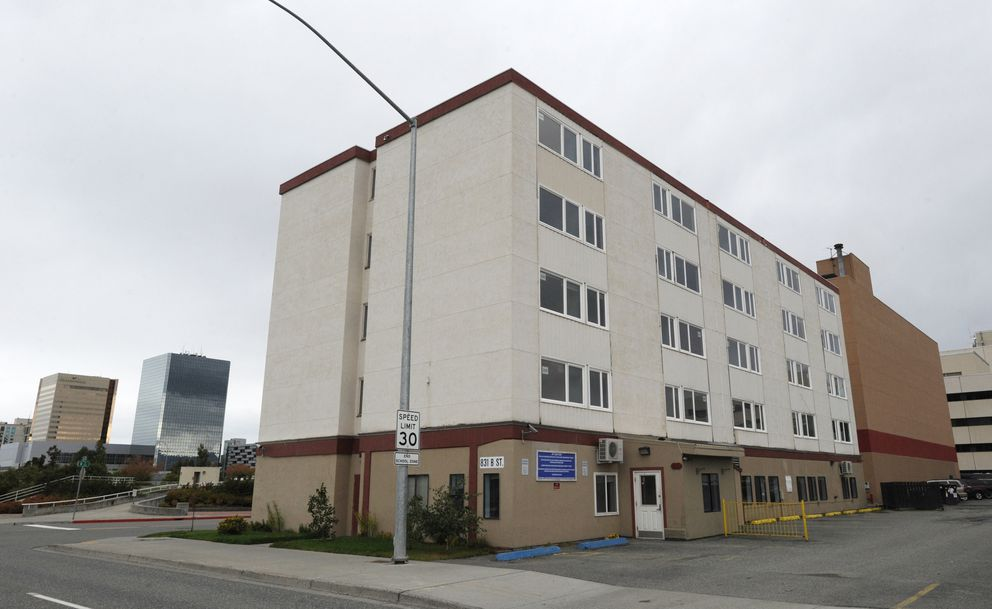 The Berkowitz administration wants to turn the former Parkview Center halfway house at 831 B St., across from the Delaney Park Strip, into housing for homeless seniors. (Bill Roth / Alaska Dispatch News)