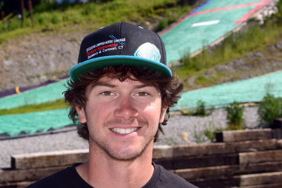 Zak Hammill coaches ski jumpers for the Nordic Skiing Association of Anchorage Ski Jumping / Nordic Combined program. (Erik Hill / Alaska Dispatch News)