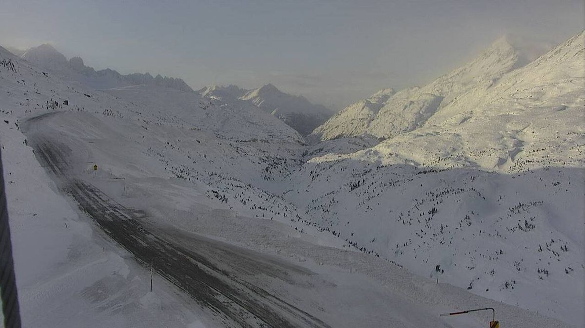 The Klondike Highway from Skagway into Canada, seen in this road camera image, was temporarily closed Friday, March 3, 2017 by avalanches, state officials said. (From Alaska DOTPF)
