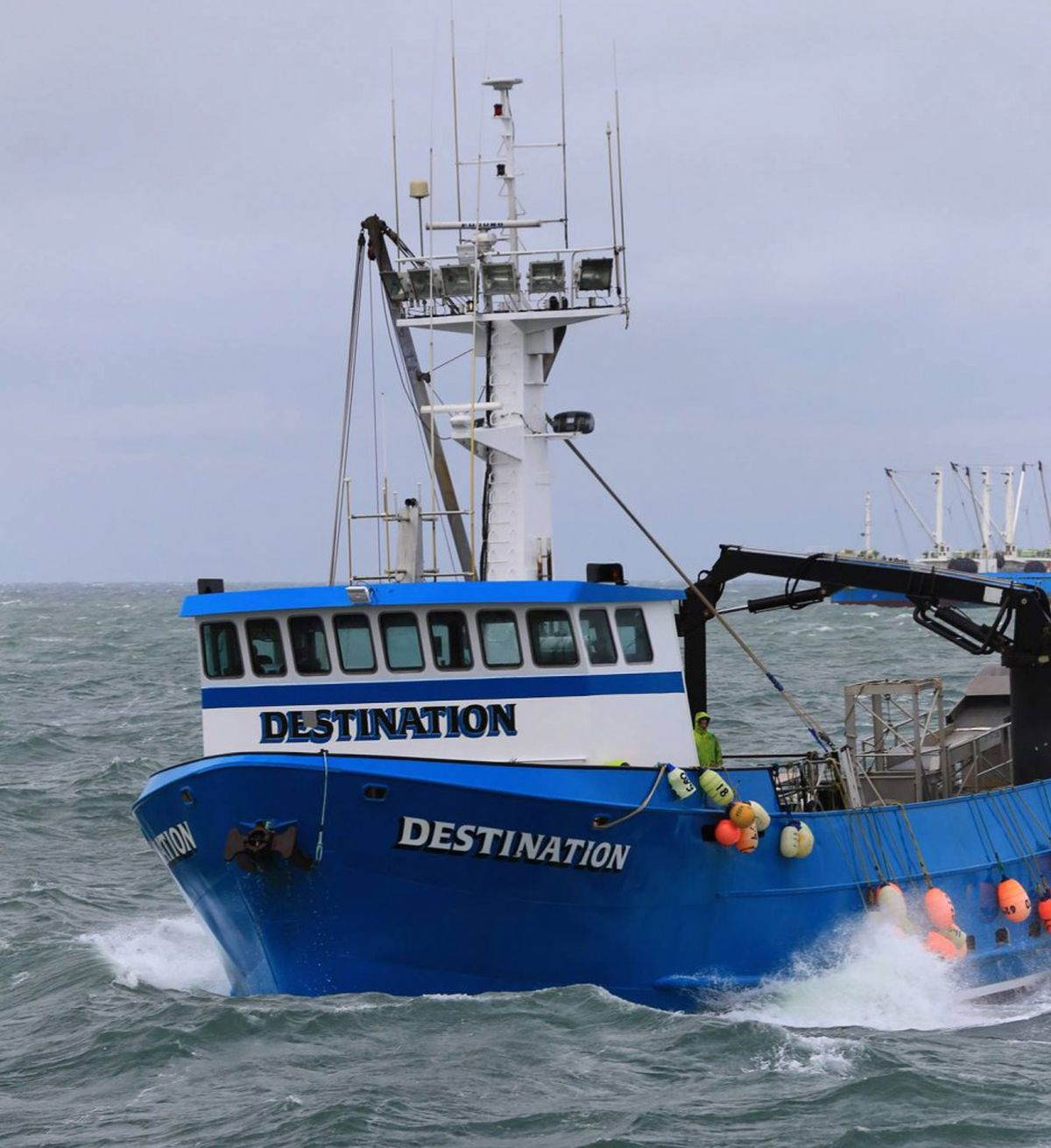 The search continues on Sunday, Feb. 12, 2017, for the 92-foot fishing vessel Destination with six people aboard missing in the Bering Sea. The Destination sent out an emergency beacon on Saturday morning from a position about 2 miles northwest of St. George Island. (Jack Molan Photography)