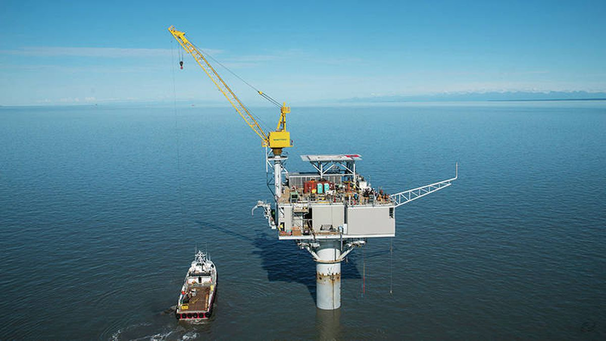 Furie Operating Alaska's Julius R Platform, installed in 2015 in Cook Inlet. (Courtesy Furie Operating Alaska)