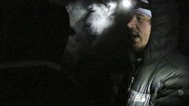 Deep snow, poor visibility test Quest mushers on their way to Dawson City