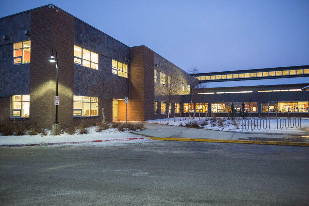 Begich Middle School, photographed Jan. 27, 2016. (Loren Holmes / ADN)