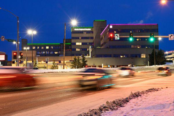Alaska Regional Hospital in Anchorage, photographed December 24, 2020. (Marc Lester / ADN)