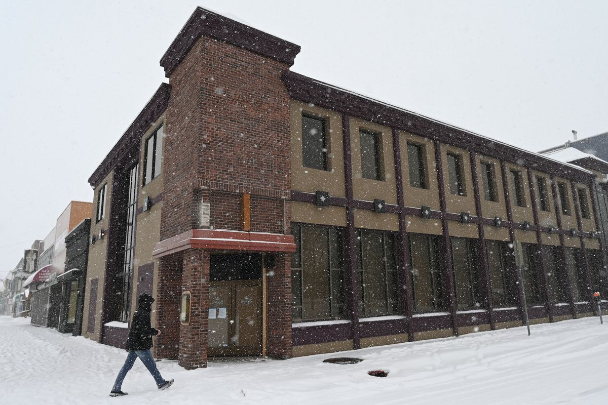 Bruce Burnett plans to open his second Bear Paw Restaurant at Fourth Avenue and E Street by early summer after a renovation of his building that once housed the Hard Rock Cafe is complete. Photographed on Monday, March 15, 2021. (Bill Roth / ADN)