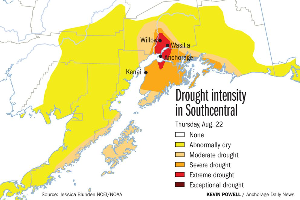 This summer is on track to be the driest on record for Southcentral Alaska