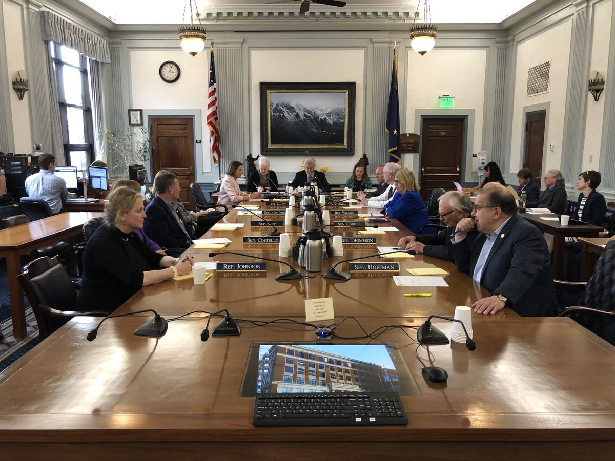 The 14-member bicameral Legislative Council meets Thursday, June 13, 2019 in the Alaska State Capitol. The council takes action for the Legislature while lawmakers are not in session. (James Brooks / ADN)