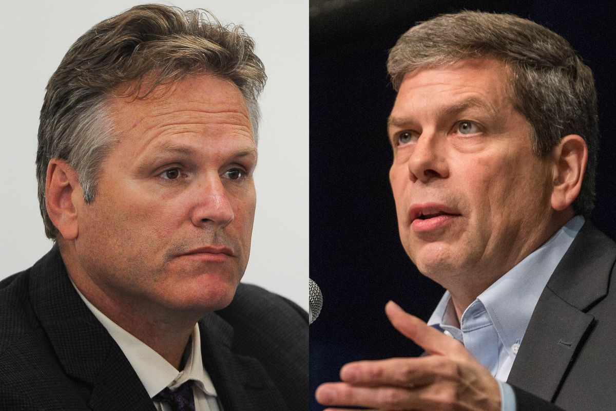 Gubernatorial candidates Mark Begich and Mike Dunleavy. (ADN photos)