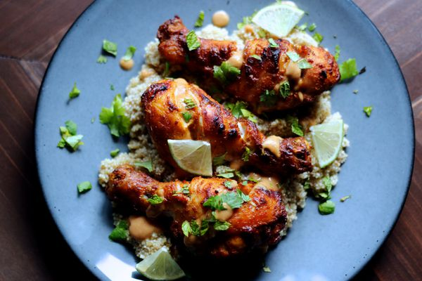 Baked tandoori-style chicken legs. (Photo by: Maya Wilson/Alaska From Scratch)