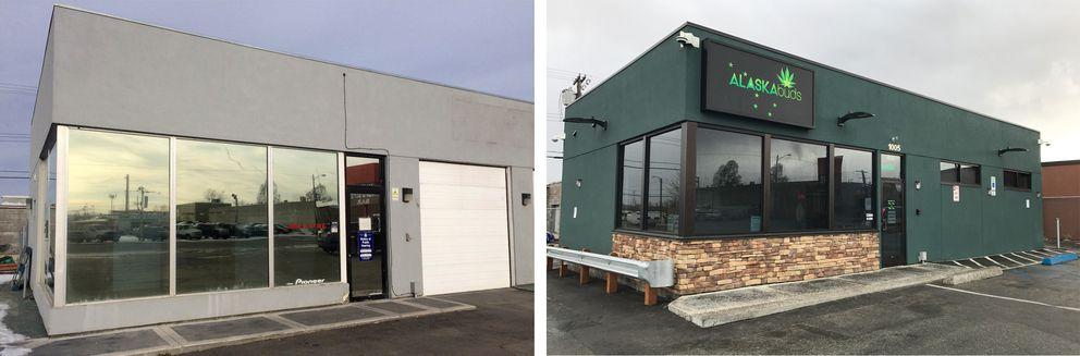 Alaskabuds in 2016, left, and 2018, right. (Annie Zak / ADN)