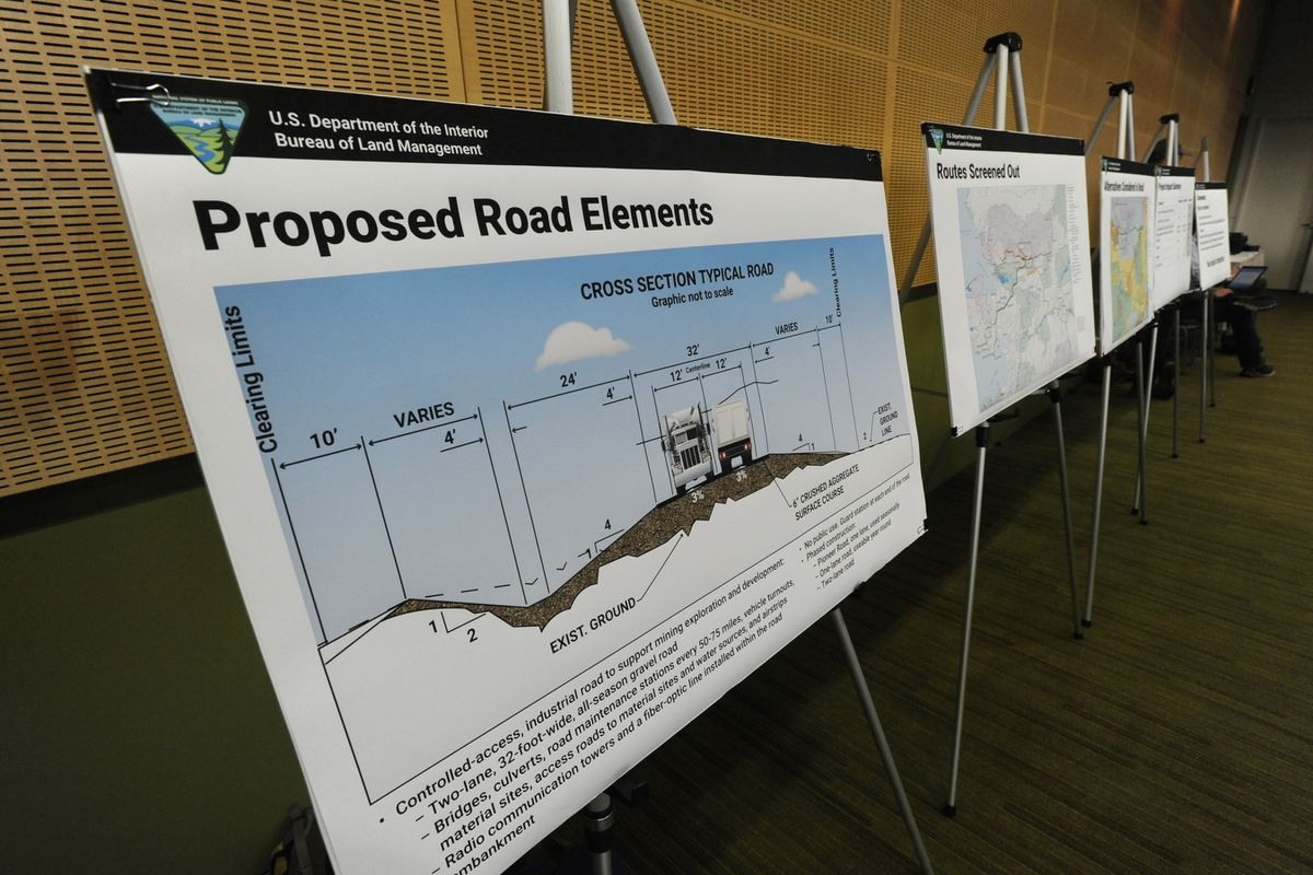 BLM held a public meeting/hearing on the proposed Ambler Road Draft EIS at the Dena'ina Center in Anchorage on Sept. 10, 2019. (Bill Roth / ADN archive 2019)
