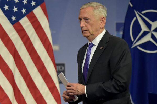 U.S. Secretary of Defense Jim Mattis leaves a news conference after a NATO defense ministers meeting at the Alliance headquarters in Brussels, Belgium June 29, 2017. REUTERS/Eric Vidal