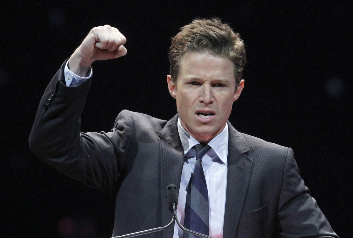 Television personality Billy Bush hosts the CinemaCon Big Screen Achievement Awards show at Caesars Palace in Las Vegas on April 26, 2012. (Steve Marcus/ Reuters file)