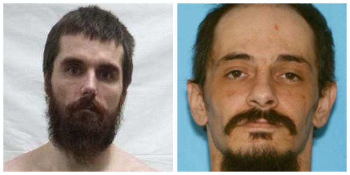 Glen Baldwin (left), 37, was one of six people charged on March 21, 2019 with murder in aid of racketeering, among other charges, in the August 2017 killing of Michael Staton (right), 34. Both men were members of the white supremacist 1488 gang. Glen was still at large as of March 27, 2019. (Photos courtesy U.S. Attorney District of Alaska and Alaska State Troopers)