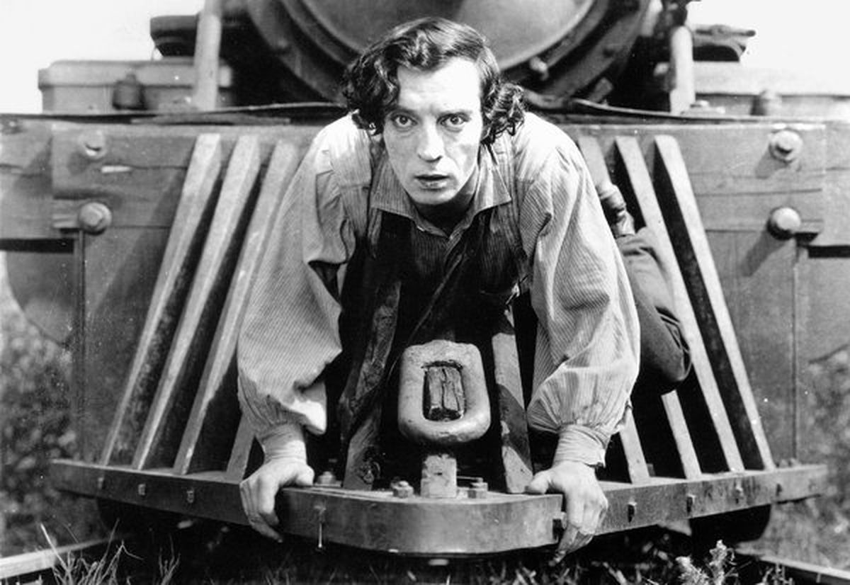"Buster Keaton in ""The General"""