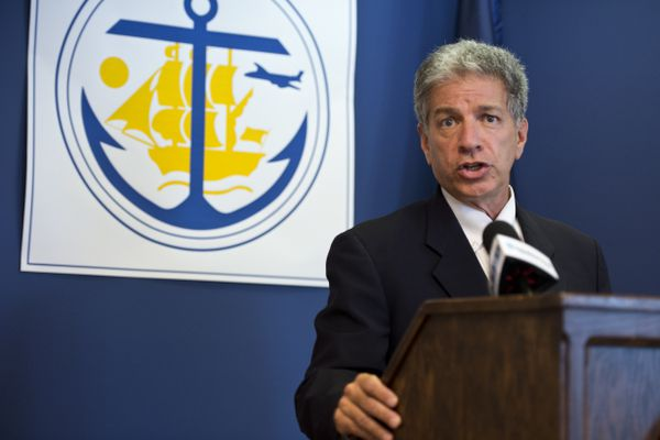 Anchorage Mayor Ethan Berkowitz declared a civil emergency on July 24, 2019, in response to the deep cuts Gov. Mike Dunleavy has made to state operating budget. (Marc Lester / ADN)