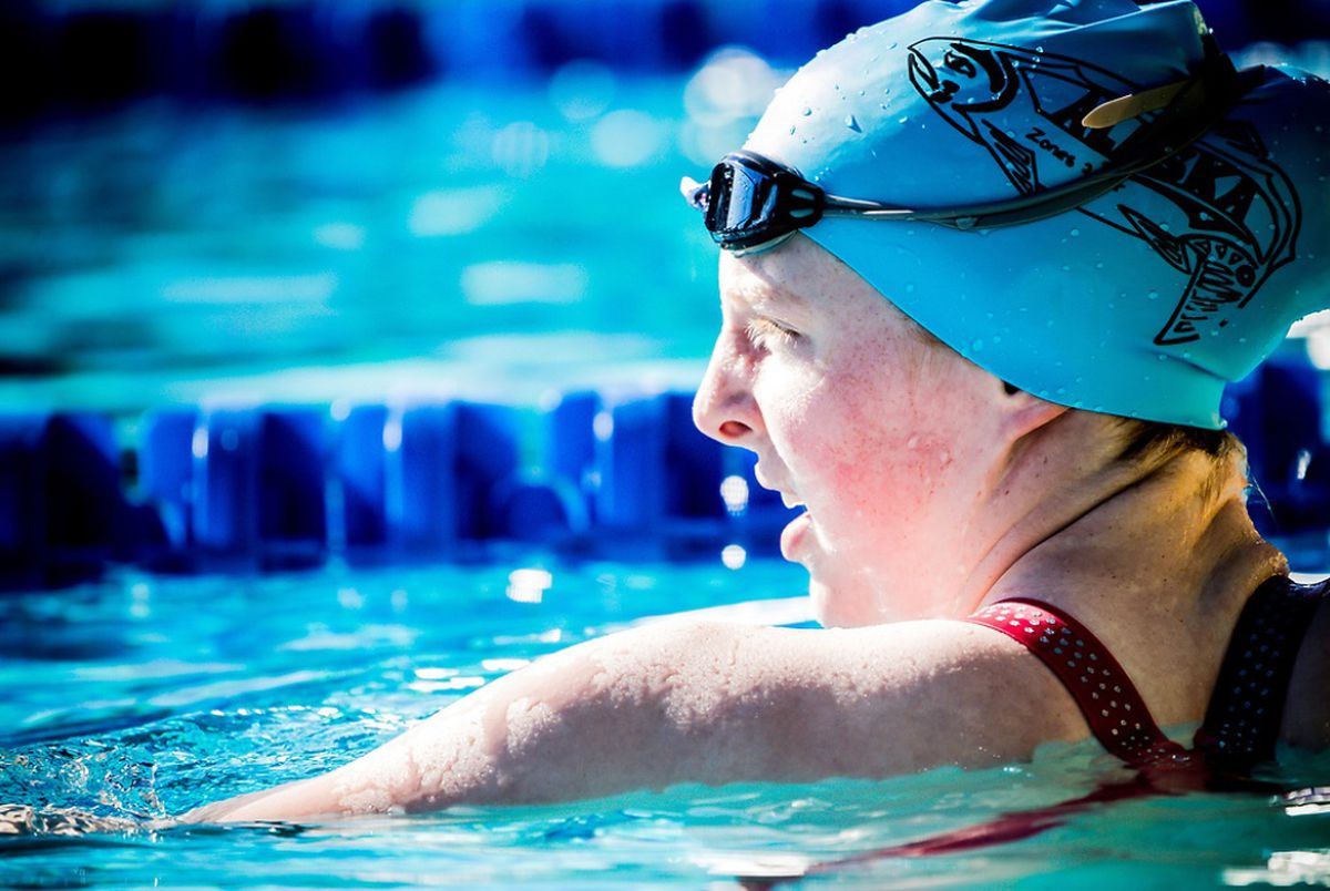 Seward's Lydia Jacoby, shown here at a meet this summer in California, will swim in two events at next year's U.S. Olympic Trials after meeting the qualifying standing in the 200-meter breaststroke Saturday at the U.S. Open in Texas. (Photo by Jack Spitser)