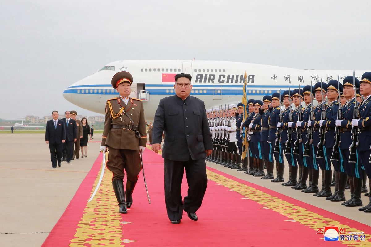 North Korean leader Kim Jong Un returns to North Korea after the summit with U.S. President Donald Trump, in this picture released June 13, 2018 by North Korea's Korean Central News Agency. KCNA via REUTERS