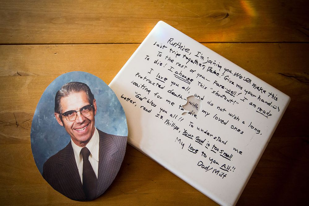 Retired Seattle minister Milt Andrews, 90, ended his life on Valentine's Day 2013 at his assisted living center, leaving behind a note written in black marker on the cover of his laptop computer. (Dan DeLong/Kaiser Health News/TNS)