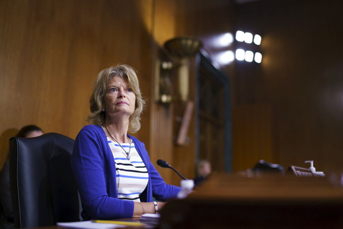 Sen. Lisa Murkowski, R-Alaska, speaks during a markup at the Senate Health, Education, Labor and Pensions Committee, at the Capitol in Washington, Thursday, June 10, 2021. Murkowski is working with a bipartisan group of 10 senators negotiating an infrastructure deal with President Joe Biden. (AP Photo/J. Scott Applewhite)