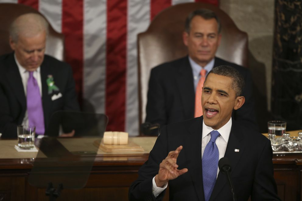 President Barack Obama delivers his State of the Union address in the House Chamber of the Capitol in Washington, Feb. 12, 2013. (Doug Mills/The New York Times file)